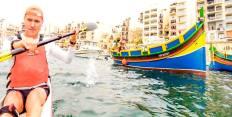 Paddling in Malta
